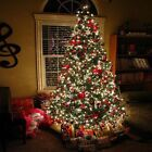 Pre-Lit Optic 7' Artificial Christmas Green Tree LED Multicolor Lights and Stand