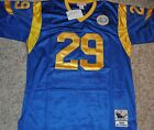 ST.LOUIS RAMS ERIC DICKERSON #29 BLUE THROWBACK JERSEY AUTHENTIC SEWN NWT