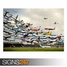 AIR TRAFFIC WORLD (AA005) AIRCRAFT POSTER - Photo Poster Print Art * All Sizes