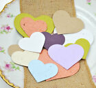 50 seed paper hearts, wedding favours, gifts