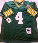 GREEN BAY PACKERS BRETT FAVRE 4 GREEN THROWBACK JERSEY AUTHENTIC SEWN NWT