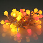40 Battery Fairy String Berry Lights by Qbis - Sunset/Warm White/White/Purple