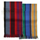 PAUL SMITH MEN'S REVERSIBLE STRIPE SCARF RED, YELLOW 100% COTTON