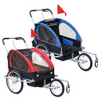 New Cycling Bicycle Trailer Pet Dog Bike Trailer Stroller Jogging w / Suspension