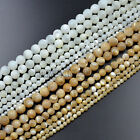 """Natural White & Yellow Mother Of Pearl MOP Shell Round Gemstones Beads 16"""" Pick"""