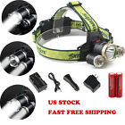 12000LM LED Headlight head lamp set Flashlight Torch Cree 3x XM-L T6 Headlamp