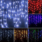 XMAS Icicle Hanging Snowing Curtain Fairy String Lights Home Party Tree Decors