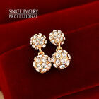 3 Color Hot Fashion Dazzling Crystal Ball Dangle Earrings For Women Brand Es003
