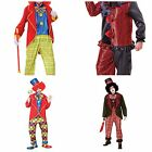 CLOWN FANCY DRESS COSTUME SCARY ZOMBIE CIRCUS FREAKY DELUXE OUTFIT HALLOWEEN