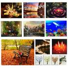 Christmas LED Lighted Luminous Art Painting Canvas Print Picture Home Wall Decor