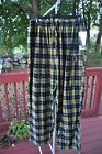 BOSTON BRUINS NHL PLAID FLANNEL ADULT LOUNGE PANTS NEW WITH TAGS