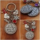 XMAS GIFT Gift keyring-  I love you to the moon & back -mum, Daughter, Dad