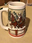 1984 Collectible Anheuser-Busch Budweiser Stein Clydesdale/Bridge
