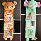 Cartoon Plush Storage Pouch Relax Bear Wall Hanging Home Storage Bags 3 Pockets