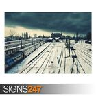 TRAIN STATION (AB024) TRAIN POSTER - Photo Picture Poster Print Art A0 to A4