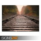 RAILROAD TRACKS (AB010) TRAIN POSTER - Photo Picture Poster Print Art A0 to A4