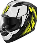 ICON ALLIANCE GT PRIMARY HI VIS YELLOW WHITE Full Face FREE SHIPPING
