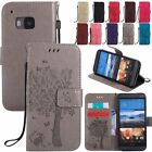 Flip Wallet Cash Cards Leather Holder Stand w/Strap Case Cover For HTC One M8 M9
