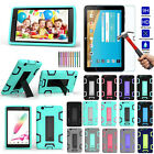 Nice Shockproof Soft Stand Gel Silicone Cover Case + Screen Film For LG Tablet