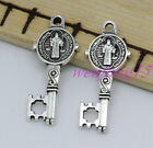Jewelry finding Tibetan silver new Charms pendant key nacklace 30-400pcs  0.8g
