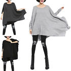ANL Womens Girls Fashion Korean Round Neck Leisure Bat Sleeves T shirt Autumn