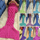 Mermaid Tail Fish Scale Handmade Knitting Cocoon Lapghan Blankets Christmas Gift