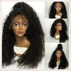 Soft Brazilian  Curl  Human Remy Hair Front Wigs Full Lace Wig Baby Hair Around