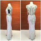 PRIMAVERA COUTURE 1596  IVORY  SEQUINED AND  LACE 2 PIECE PAGENT $499 AUTENTIC