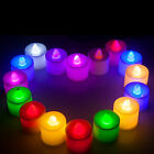 Lot 24 Electric LED Submersible Candle Tea lights For Wedding Party Club Decor
