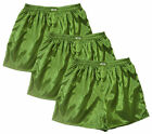 Thai Silk Boxers 3 x Mens Underwear Boxer Shorts Sleepwear Lime Green M L XL 2XL
