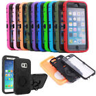 Hybrid Full Covered Protective Rugged Armor Rubber Case Cover &Screen Protector