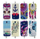Flowers Anchor Elephant Silicone TPU Case Cover Skin For Samsung Galaxy S4