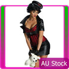 Betty Boop Biker 50s Pin Up Costume 50's Secret Wishes Fancy Dress Ladies Womens $22.25 USD on eBay