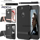 Jet Black iPhone 7 6 6S 5 se Slim Fit Hybrid Kickstand Bumper Rubber Case Cover