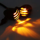 2x Motorcycle Black Grill Bullet Turn Signal Indicator Light Lamp for Harley