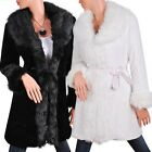 ELEGANT FAUX FUR LONG COAT / JACKET #218- Sizes M L XL