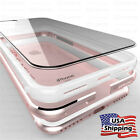 THIN Crystal Clear Back Aluminum Metal Bumper Slim Case Cover iPhone X 8/7 Plus