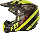 Fly Racing  F2 Carbon MX Helmet Black Hi-Viz