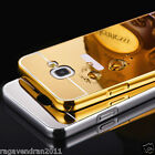 Luxury Aluminum Metal Bumper + Mirror Back Case Cover For Samsung Galaxy A5 2016