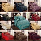 LUXURY JACQUARD 7PC Quilted Bedspread; COMFORTER SET with Matching Pillows Cases
