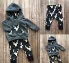 Baby Boys Girls Clothes 2Pcs Set Warm Outfits Deer Hoodies + Pant Baby Clothes