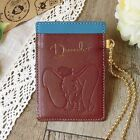 DISNEY Dumbo Pooh Cowhide Pass Case Card ID Purse Holder Made in Japan E3077