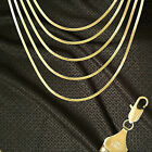 14K ITALY GOLD PLATED 3mm HERRINGBONE CHAIN NECKLACE GUARANTEED SAME DAY  H3ALL