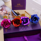24K Gold Plated Rose Flower Valentine's Day Gift Birthday Romantic Present + Box