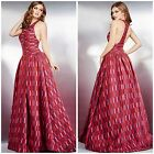 JOVANI 28675 RATRO PRINTED  BALL GOWN RUNAY PAGENT $980 SZ 0,2,4,6, AUTENTIC$299