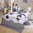 Black& White Mickey Mouse Queen/King Size Doona Duvet Quilt Cover Bed Set Linen