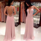 2017 Girls Woman's Evening Party Formal Bridesmaid Cocktail Long Lace Dress