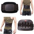 Leather Lumbar Lower Back Waist Support Belt Spine Correction Brace