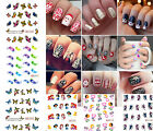 Nail Art Water Transfer Stickers Flower Butterfly Decals Tips Decoration ble