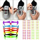 12Pcs/Set Cool Elastic Silicone Easy No Tie Shoelaces Shoe Lace for Kids Adults